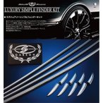 ショッピングステップワゴン ステップワゴン RP ラグジュアリーシンプルフェンダーキット クローム 1台分セット