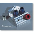 Kinokuni K500 オイルフィルターマウントブラケットキット (油温・油圧取り出し付) 油温計アダプターサイズ:NPT (PT) 1/8