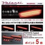 ヴァレンティジャパン ハリアー ZSU60系 JEWEL LEDリアバンパーリフレクター トヨタ タイプ2