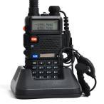 トランシーバー 一台  無線機  アマチュア無線機 充電器付  災害 地震 対策 変換アダプター イヤホンマイク付 アンテナ付 UV-5R FM機能付き 新入荷 送料無料