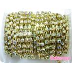 Yahoo! Yahoo!ショッピング(ヤフー ショッピング)高級ガラス製ダイヤチェーン ゴールド台座 クリアオーロラ石 (10cm)