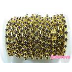 Yahoo! Yahoo!ショッピング(ヤフー ショッピング)高級ガラス製ダイヤチェーン ゴールド台座 ダークアメジスト石 (10cm)