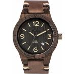 WeWood アルファ スイス大まかなアフリカン ・ ブラックウッド時計 |レザー/ブラック 正規輸入品