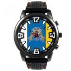 カナリア諸島スペイン国旗メンズ ブラック ゼリー シリコーン腕時計 正規輸入品