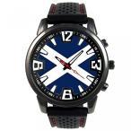 テネリフェ カナリア諸島スペイン国旗メンズ ブラック ゼリー シリコーン腕時計 正規輸入品