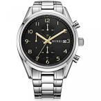 牟礼メンズ エリート クォーツ、クロノグラフの腕時計