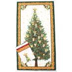 パネル販売 クリスマスツリー タペストリー 生地 布 リアル風 モミの木  シーチング 約 縦110センチ 横60センチ クリックポスト3枚まで対応