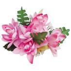 フラダンス 髪飾り ヘアクリップ チューブローズクリップ ピンク