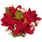 フラダンス 髪飾り ヘアクリップ チューブローズクリップ レッド 赤