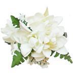 フラダンス 髪飾り ヘアクリップ チューブローズクリップ ホワイト 白