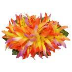 フラダンス 髪飾り ヘアクリップ リリアオカニレクリップ オレンジ