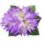 フラダンス 髪飾り ヘアクリップ リリアオカニレクリップ パープル 紫