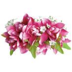 フラダンス 髪飾り ヘアクリップ ロングチューブローズクリップ ピンク