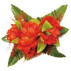 フラダンス 髪飾り ヘアクリップ オハイアリイバンダオーキッドMクリップ オレンジ