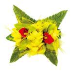フラダンス 髪飾り ヘアクリップ オハイアリイバンダオーキッドMクリップ イエロー 黄