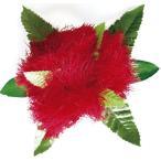 フラダンス 髪飾り ヘアクリップ レフアファーンクリップ レッド 赤