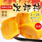 柿子 - 【静岡県原産】次郎柿 L〜2L混合 3.3kg 良品