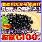 お試し野生種ワイルドブルーベリー100g ぶるーべりー 送料無料