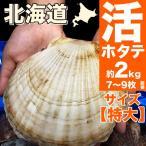 ホタテ ほたて 特大 2kg 活 貝付き 殻付き 冷蔵