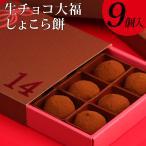 """バレンタイン 和チョコ """"生チョコ大福""""しょこら餅9個入 6セット以上のご購入で送料無料"""