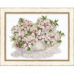 RIOLISクロスステッチ刺繍キットNo.100/034 「Cherry Blossom」 (チェリー・ブロッサム 桜) ロシアの刺しゅうメーカー「リオリス」製ししゅうキット