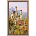 RIOLISクロスステッチ刺繍キット No.1520 「Neuschwanstein Castle」 ノイシュヴァンシュタイン城 ドイツ ノイシュバンシュタイン城