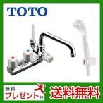 TOTO 浴室シャワー水栓 台付きタイプ  TM116CL2ハンドルシャワー水栓 スプレー(節水)シャワー 混合水栓 蛇口 デッキタイプ