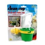 JW Pet 飛び散りずらいエサ入れ&水入れ(中) Clean Cup Feeder and Water Cup Medium