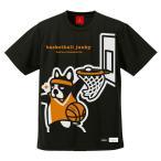 basketball junky × SPALDING ドライTシャツ バスケットボールウェア ブラック BSK18102-2