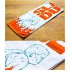 スラムダンク メラメラタオル【105cm×22cm】 DTWL-01(ホワイト×オレンジ色)