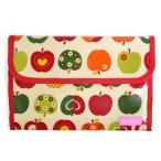 ショッピング母子手帳 母子手帳ケース ジャバラ マルチケース おしゃれリンゴのひみつ(アイボリー) B2901300