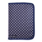 ショッピング母子手帳 母子手帳ケース ファスナー マルチケース 水玉・紺 B2800100