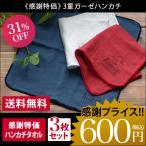 <感謝祭限定> 3重ガーゼ ハンカチタオル <3枚セット> セール 日本製 送料無料