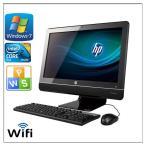 ポイント10倍 中古パソコン Windows 7 21.5型ワイド一体型 HP Compaq 6000 Pro All-in-One 高速Core2 Duo E7500 2.93GHz  メモリ4G HD250GB DVD-ROM 無線有