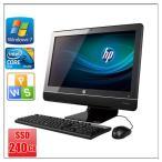 中古パソコン Windows 7 21.5型ワイド 一体型 メモリ4G SSD240GB HP Compaq 6000 Pro All-in-One 高速Core2 Duo E7500 2.93GHz  DVD-ROM 無線有 WPS Office