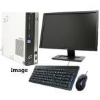 ショッピングパソコンデスク 中古パソコン デスクトップパソコン Windows 10 24型液晶モニター付 SSD240G  Office付 富士通 D582 第3世代Core i5-3470(3.2G) メモリ4G DVDマルチ USB3.0