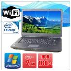 ショッピング中古 中古ノートパソコン(Windows 7) NEC VersaPro VK22EA-B Celeron 900 2.2G/メモリ2G/HD160GB/DVD-ROM/15型ワイド/無線有/WPS Office付