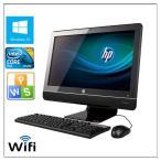 ポイント10倍 中古パソコン Windows 10 21.5型ワイド一体型 HP Compaq 6000 Pro All-in-One 高速Core2 Duo E7500 2.93GHz  メモリ2G HD250GB DVD-ROM 無線有