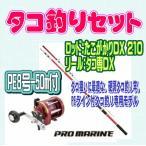 タコ釣り2点セット たこがかりDX210 タコ専DX(ライン付き) プロマリン タコセット  入門 セット 初心者 ビギナー 簡単