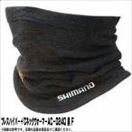 10月25日24時間限定 通常品ポイント7倍ブレスハイパー+℃ネックウォーマーAC−024Q 黒 F シマノ SHIMANO