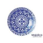 マジョリカYK220皿【直径22.5cm・軽量・うすかる・白磁・丸皿・大皿・パスタ皿・藍色・北欧風・美濃焼・国産】【trys亜】