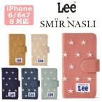 iPhone 4s 立 - サミールナスリ iphoneケース Lee 送料無料 SMIRNASLI iPhone6/6s/7/8対応 手帳型 SMIR NASLI リー コラボ スター スマホケース Star Mobile Case 011200042