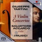 サルヴァトーレ・アッカルド Giuseppe Tartini: 3 Violin Concertos SACD Hybrid
