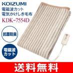 コイズミ(KOIZUMI) 電磁波カット(電気毛布) 電気掛け敷き毛布(洗えるブランケット) KDK-7554D