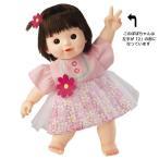 ぽぽちゃん お人形 やわらかお肌の2歳のぽぽちゃん お花のチュールレイヤードワンピ