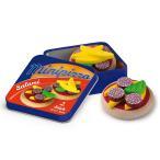 Erzi(エルツィ)木製ままごと『缶入りチーズサラミピッツァ』Mini Pizzas in a Tin /【定形外郵便可】