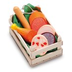 Erzi(エルツィ)木製ままごとセット『木箱入りソーセージセット(ミニ)』Assorted sausages, small
