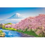 ジグソーパズル YAM-10-1387 風景 春爛漫の桜並木と富士山(静岡)1000ピース [CP-T]
