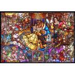 ジグソーパズル 1000ピース ディズニー 美女と野獣 ストーリー ステンドグラス ピュアホワイト DP1000-035