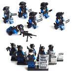 SWAT 特殊部隊 6体武器セット レゴカスタムキット LEGOカスタムパーツ アーミー